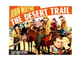 THE DESERT TRAIL, far left: John Wayne, right inset: John Wayne, Mary Kornman, 1935. Posters