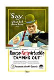 CAMPING OUT, Roscoe 'Fatty' Arbuckle, 1919 Posters