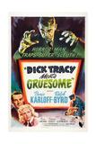 DICK TRACY MEETS GRUESOME, top: Boris Karloff, bottom left from top: Ralph Byrd, Anne Gwynne, 1947 Art