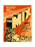 KING COWBOY, lower left, from left to right: Tony the Wonder Horse, Sally Blane, Tom Mix, 1928. Posters