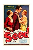 SEED, from left on US poster art: Lois Wilson, John Boles, Genevieve Tobin, 1931 Prints