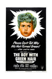THE BOY WITH GREEN HAIR, US poster, Dean Stockwell, 1948 Poster