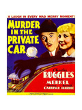 MURDER IN THE PRIVATE CAR, from left: Charles Ruggles, Una Merkel on window card, 1934. Posters