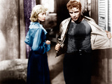A STREETCAR NAMED DESIRE, from left: Vivien Leigh, Marlon Brando, 1951 Photo