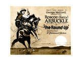 THE ROUND-UP, Roscoe 'Fatty' Arbuckle on 'Title card' to lobby card set, 1920. Print