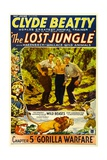 THE LOST JUNGLE, left: Clyde Beatty in 'Chapter 5: Gorilla Warfare', 1934. Prints