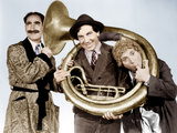 A DAY AT THE RACES, from left: Groucho Marx, Chico Marx, Harpo Marx, (aka the Marx Brothers), 1937 Posters