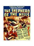 THE SHEPHERD OF THE HILLS, from left: Harry Carey, Betty Field, John Wayne on window card, 1941 Prints