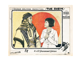THE SHEIK, from left: Rudolph Valentino, Agnes Ayres, 1921. Posters