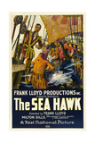 THE SEA HAWK, poster art, 1924. Print