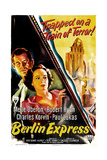 BERLIN EXPRESS, US poster, from top: Robert Ryan, Merle Oberon, 1948 Posters