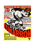 CIMARRON, from left: Richard Dix, Irene Dunne on window card, 1931. Prints