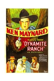 DYNAMITE RANCH, top: Ken Maynard, 1932. Posters