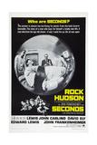 SECONDS, US poster, Rock Hudson (center), 1966 Poster