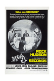 SECONDS, US poster, Rock Hudson (center), 1966 Print