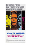 BERSERK, Diana Dors (blue), Joan Crawford (orange), Michael Gough (green), 1967 Posters