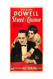 STREET OF CHANCE, US poster art, from left: William Powell, Kay Francis, 1930 Print