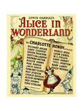 ALICE IN WONDERLAND, bottom center: Charlotte Henry on window card, 1933. Poster