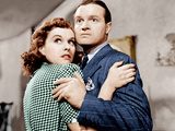 THE CAT AND THE CANARY, from left: Paulette Goddard, Bob Hope, 1939 Prints