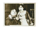 THE ROUGH HOUSE, from left: Roscoe 'Fatty' Arbuckle, Alice Lake in a scene card dated 1919, 1917. Poster