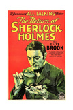 THE RETURN OF SHERLOCK HOLMES, US poster art, Clive Brook as Sherlock Holmes, 1929 Prints