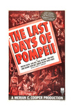 THE LAST DAYS OF POMPEII, US poster art, 1935 Poster