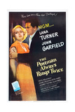 POSTMAN ALWAYS RINGS TWICE, THE, Lana Turner, John Garfield, 1946, poster art Art