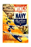 WINGS OF THE NAVY, US poster, top from left: John Payne, George Brent, Olivia DeHavilland, 1939 Poster