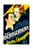 LOVERS COURAGEOUS, US poster art, from left: Robert Montgomery, Madge Evans, 1932 Posters