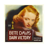 DARK VICTORY, Bette Davis on window card, 1939 Prints