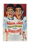 Scared Stiff, Dean Martin, Jerry Lewis, 1953 Poster