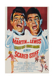 SCARED STIFF, top from left: Dean Martin, Jerry Lewis, 1953. Poster