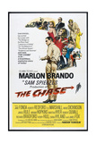 THE CHASE, US poster, center: Marlon Brando 1966 Kunstdruck