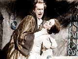 THE PIT AND THE PENDULUM, from left: Vincent Price, Barbara Steele, 1961 Print
