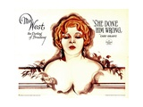 SHE DONE HIM WRONG, Mae West, 1933. Prints