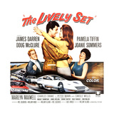 THE LIVELY SET, from left: Doug McClure, James Darren, Pamela Tiffin, Joanie Sommers, 1964. Premium Giclee Print