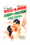 FLIGHT FOR FREEDOM, US poster, from left: Rosalind Russell, Fred MacMurray, 1943 Prints