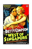 WEST OF SINGAPORE, right: Betty Compson, 1933. Posters