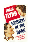 FOOTSTEPS IN THE DARK, from left: Errol Flynn, Brenda Marshall, 1941. Posters