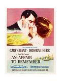AN AFFAIR TO REMEMBER, l-r: Cary Grant, Deborah Kerr on US poster art, 1957 Prints