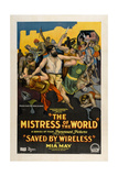 MISTRESS OF THE WORLD, 'Episode 4: Saved By Wireless', 1919 Print