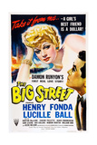 THE BIG STREET, top: Lucille Ball, right: Henry Fonda, 1942. Posters