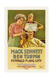 PITFALLS OF A BIG CITY, Dot Farley, James Finlayson, Ben Turpin, 1923 Prints