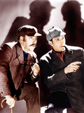 THE HOUND OF THE BASKERVILLES, from left: Nigel Bruce, Basil Rathbone, 1939. Prints