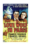 THE LONE WOLF IN PARIS, left, Francis Lederer; right, Frances Drake, 1938 Print