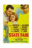 STATE FAIR, Lew Ayres, Janet Ayres, Will Rogers, 1933. Art