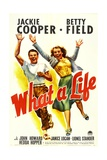 WHAT A LIFE, from left: Jackie Cooper, Betty Field, 1939. Art