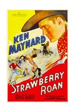 STRAWBERRY ROAN, right: Ken Maynard, 1933. Prints