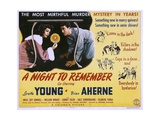 A NIGHT TO REMEMBER, from left: Loretta Young, Brian Aherne, 1942. Art