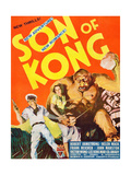 THE SON OF KONG, Robert Armstrong, Helen Mack on window card, 1933 Posters